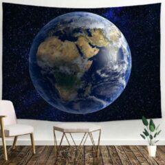 Ulticool - Aarde Heelal Natuur Planeten Sterren - Wandkleed - 200x150 cm - Groot wandtapijt - Poster - Blauw