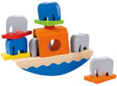 Selecta Spielzeug Speelgoedboot Wippofant Junior 15,5 Cm Hout 11-delig