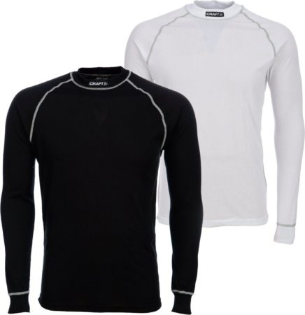 Afbeelding van Witte Craft Be Active Multi Longsleeve - Thermoshirt - Heren - XL - Wit;Zwart