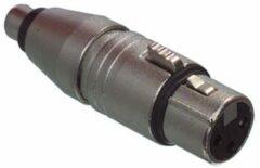 Zilveren Neutrik NA2FPMF XLR adapter XLR socket - RCA socket (phono) 1 pc(s)