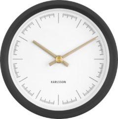 Karlsson Dense - Wandklok - Kunststof - Ø12,5cm - Zwart