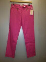 Roze Michael Kors broek met goudkleurige knopen en rits Ultra Pink US size 4