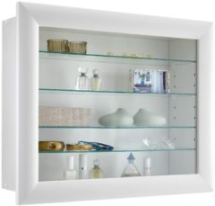 FD Furniture Vitrine Hangkast Bora 63 cm breed - Wit