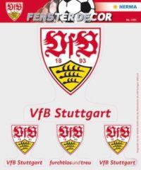 HERMA 1991 Venster Deco VfB Stuttgart 25 x 35 cm, Logos