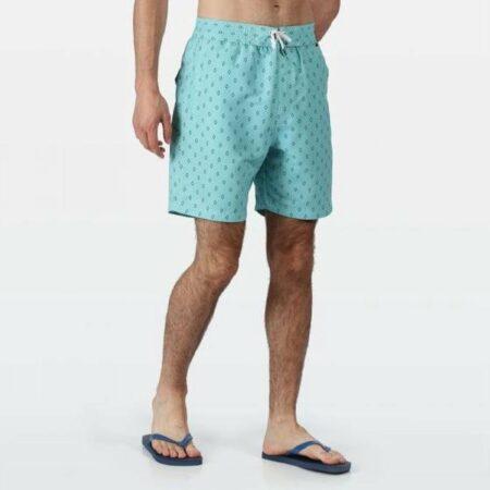 Afbeelding van Regatta - Men's Hadden II Printed Swim Shorts - badmode - Mannen - Maat XXXL - Blauw