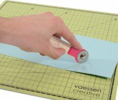 Roze Vaessen Creative Rolmes incl. 3 Messen van Ø 28 mm, Links- en Rechtshandig gebruik, Rolmes voor Stof, Papier, Leer, Vilt, Cardstock en andere Knutselmaterialen