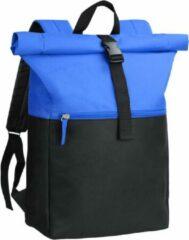 Beige Derby of Sweden Derby Sky Backpack - Roltop Rugzak - Blauw - 16 Liter