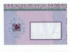 Merkloos / Sans marque Luxe Gekleurde Enveloppen - 50 stuks - Lila - B6 175X120 mm - 110grms
