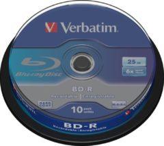 Blauwe Verbatim BD-R SL 25GB 6 x 10 Pack Spindle BD-R 25GB 10stuk(s)