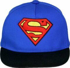 Superman Classic Logo Verstelbare Volwassenen Snapback Cap Pet Blauw/Zwart/Rood