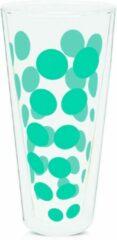 Zak!Designs Dotdot Latte macchiatoglas - Dubbelwandig - 40 cl - Aqua blauw