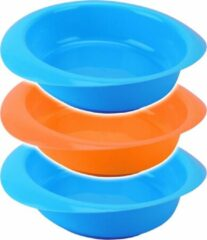 Tom Kommen 300 Ml Polypropyleen Blauw/oranje 3 Stuks