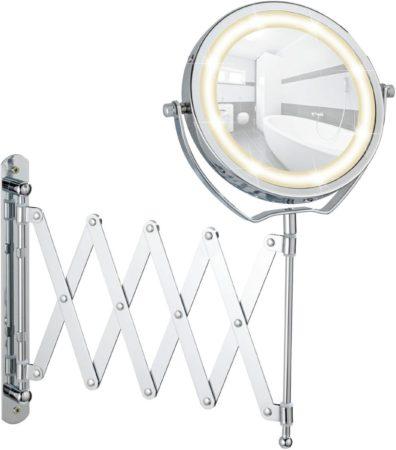 Afbeelding van Douche Concurrent Cosmeticaspiegel Wenko Turbolock 11cm Geintegreerde LED Verlichting