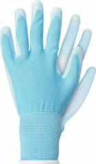 Talen Tools Werkhandschoenen licht polyester blauw maat S