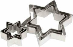 Cosy&Trendy Cosy & Trendy Uitsteekvorm - Zilver - 2.5-9cmxH2cm - Inox - (set van 6) en Yourkitchen E-kookboek