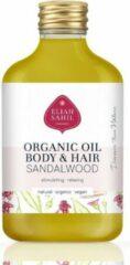 Huid- en haarolie met amandel en sandelhout, Eliah Sahil, organic & vegan