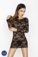 Passion Woman Chemise Passion - Yolanda Babydoll in het zwart Maat S/M