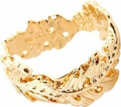 Roze Amodi 24/7 Jewelry Collection Blad Ring Verstelbaar - Verstelbare Ring - Róse Goudkleurig