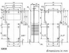 Velleman Grijze T-behuizing In Abs Met Vaste Display - 237/95 X 131/95 X 43mm