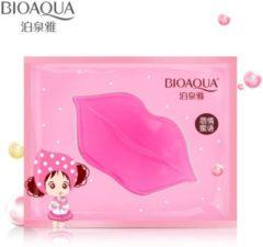 Roze Luxury Pink BIOAQUA Lipmasker - Collageen lipmasker - Hydraterende lippenmasker - vollere lippen - verzorgend en verzachtend - Lip mask