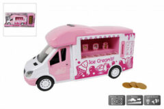 Toys Amsterdam Ijswagen Junior 27 Cm Roze/wit 4-delig