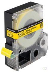 Epson sterk hechtende tape breedte 18 mm, zwart/geel