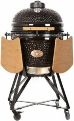 "Zwarte Grill Care Kamado BBQ 21"" (Incl. glasvezelvilt afdichting en chipfeeder voor rookhout toevoer)"