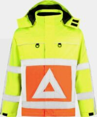 EM Traffic Parka Verkeersregelaar Oxford RWS - Fluor geel / Fluor Oranje - Maat L