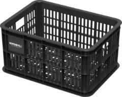 Basil Fietskrat Crate Small KinderFietskrat - 25 Liter - Zwart
