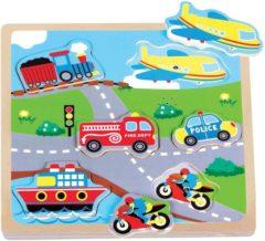 Puzzel Geluid New Classic Toys: Voertuigen 22x22x2 Cm 0527