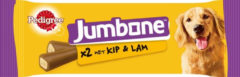 Beige Snack Hond Pedigree Jumbone Kip - Lam Medium