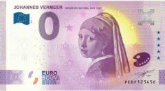 Paarse 0 Euro Biljet 2021 - Johannes Vermeer - Meisje met de Parel