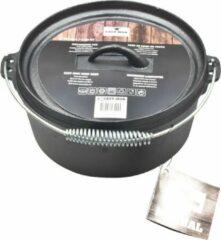 Zwarte Cast Iron Dutch Oven. 25cmØ. 4 Liter | Gietijzer | Gietijzeren pan | Barbecue Pan | Vuurpot