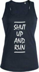 Zwarte New York Finest Shut up and Run dames sport shirt / hemd / top - maat S
