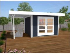Weka tuinhuis Design 126A Gr.2 13,4m² antraciet
