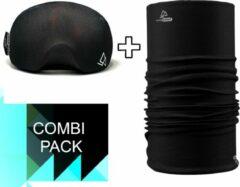 Zwarte Goggle Protect Combipack | Skibril | Bandana | Sjaal | Beschermhoes | Cover | Skihelm | Wintersport | Ski | Snowboard | Mondmasker