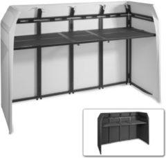 Vonyx DB5 XL DJ Booth meubel incl. witte en zwarte lycra stretch doeken