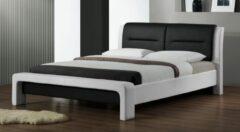 Home Style Tweepersoonsbed Cassandra 120x200cm in wit met zwart