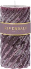 Paarse Riverdale NL Geurkaars Swirl dark burg 7.5x15cm