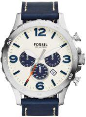 Donkerblauwe Fossil Horloge Nate horloge JR1480
