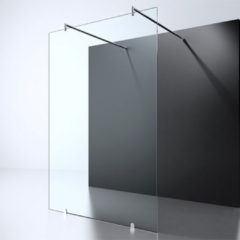 Douche Concurrent Inloopdouche Erico 120x200cm Antikalk Helder Glas Vrijstaand 8mm Veiligheidsglas Easy Clean