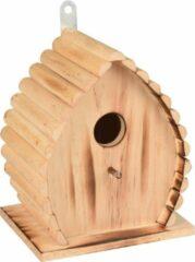 WorldPet Flamingo Nestkastje givan hout gevlamd natuur 16x12,5x19,5cm