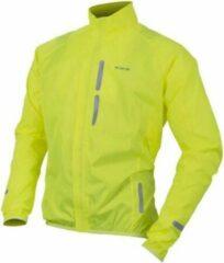 Wowow Bike Wind Fietsjas - Maat M - Unisex - geel/zilver