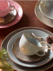 CreaTable 14396 Kaffeeservice Organic Oslo, für 6 Personen, Steingut (1 Set, 18-teilig)