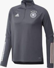 Donkergrijze Adidas uefa euro 2020 dfb duitsland trainingstop 20/22 grijs heren