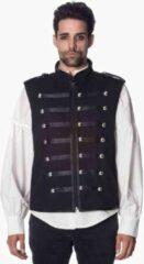 Banned Waistcoat -L- Military Zwart