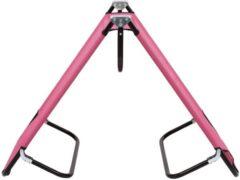 VidaXL Ligbed inklapbaar staal roze