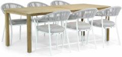 Witte Santika Furniture Santika Vivian/Weston 210 cm dining tuinset 7-delig