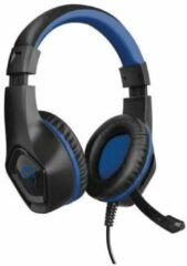 Trust GXT404B Rana Gaming headset 3.5 mm jackplug Kabelgebonden Over Ear Zwart, Blauw