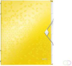 Gele Leitz Divider Book Leitz WOW A4 PP 6tabs yellow